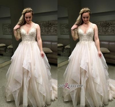 Elegant Sleeveless Long Evening Dress V-Neck Puffy Party Dress WIth Beadss BA8918_1