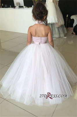 Flower Lovely Two-Pieces Sweetheart Tulle Pink Appliques Girl Dresses_3