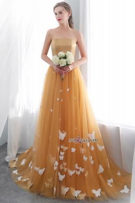Gold Long Sheath Fashion Sash Floor-Length Evening Dress UKes UK_4