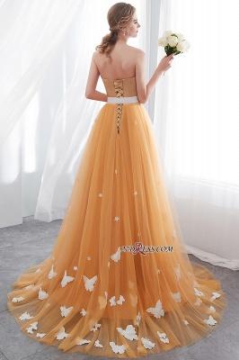 Gold Long Sheath Fashion Sash Floor-Length Evening Dress UKes UK_1