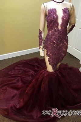 Long-Sleeves Mermaid Beadings Appliques Newest Prom Dress UK qq0276_3
