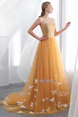 Gold Long Sheath Fashion Sash Floor-Length Evening Dress UKes UK_2