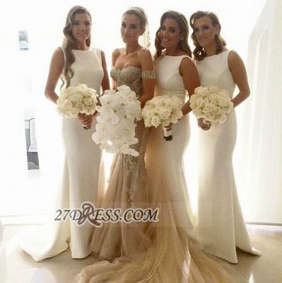Sexy Bateau Sleeveless Column Bridesmaid Dress UK With Floor-length_1