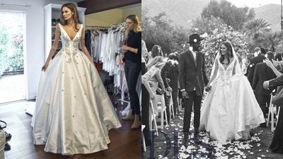 Modern V-Neck Sleeveless Wedding Dresses UK Princess Crystal Bridal Gowns_1