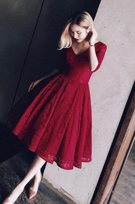 Sexy Half Sleeve Lace Short Prom Dress UK On sale Lace Party Dress UK BA8143_1