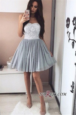 A-Line Short Appliques Sweetheart Appliques Simple Homecoming Dress UK_3