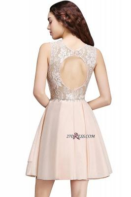 Sexy A-line Sleeveless Beading Tiers Lace Homecoming Dress UKes UK_6