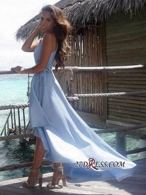 Summer Sexy Hi-Lo Sleeveless V-Neck Prom Dress UK BA7197_1