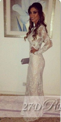 Long Sleeve Crystal Lace Party Dress UKes UK Sheath Charming Attractive Evening Gowns_1