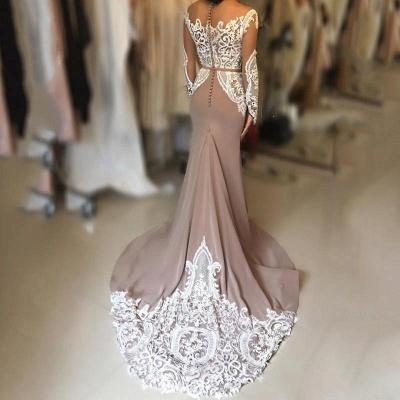 Sexy Long-Sleeve Evening Dress UK | Lace Prom Dress UK_4
