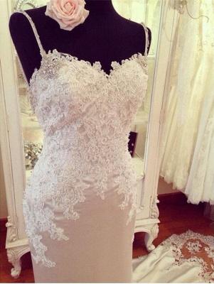 Stunning Sweetheart Lace Wedding Dress Sexy Mermaid_3