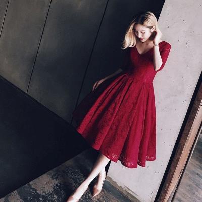 Sexy Half Sleeve Lace Short Prom Dress UK On sale Lace Party Dress UK BA8143_4