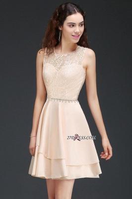 Sexy A-line Sleeveless Beading Tiers Lace Homecoming Dress UKes UK_4