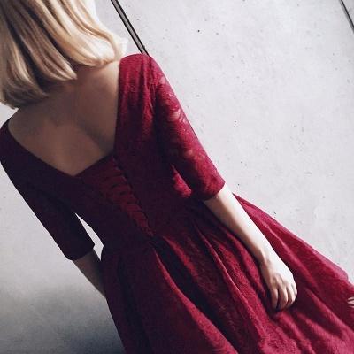 Sexy Half Sleeve Lace Short Prom Dress UK On sale Lace Party Dress UK BA8143_3