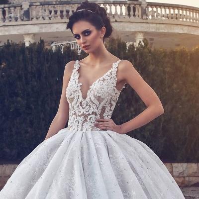 Elegant V-neck Lace Wedding Dress | Ball Gown Bridal Dress_3