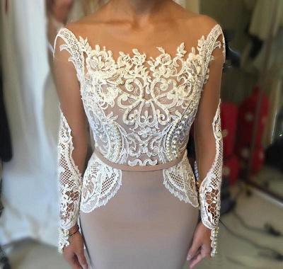 Sexy Long-Sleeve Evening Dress UK   Lace Prom Dress UK_6