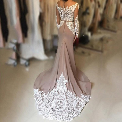 Sexy Long-Sleeve Evening Dress UK   Lace Prom Dress UK_4