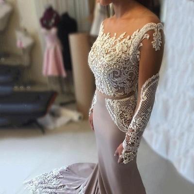 Sexy Long-Sleeve Evening Dress UK   Lace Prom Dress UK_3