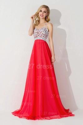 Elegant One Shoulder Crystal Prom Dress UK Floor Length_3
