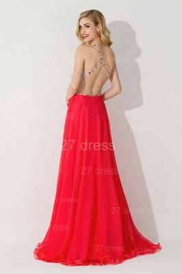 Elegant One Shoulder Crystal Prom Dress UK Floor Length_4