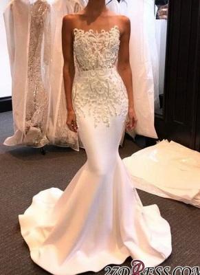 Long Mermaid Shiny White Beading Prom Dress UKes UK LY145_3