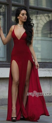 V-neck slit prom Dress UK, evening Dress UKes UK BA8903_2