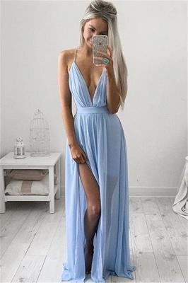 Sexy V-Neck Long Prom Dress UK Chiffon Floor Length_1