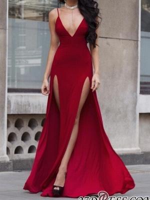 V-neck slit prom Dress UK, evening Dress UKes UK BA8903_1