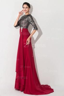 Gorgeous Half Sleeve Bodycon Evening Dress UK Sweep Train_2