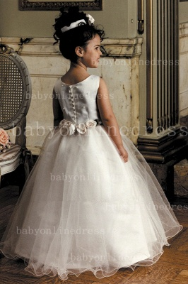 Designer Flowers Little Girls Pageant Gowns Tulle Princess for Sale_2
