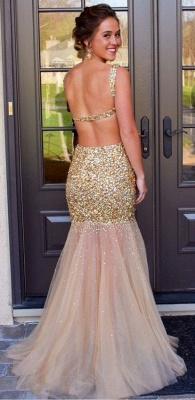 Gorgeous Sleeveless Crystal Prom Dress UKes UK Mermaid Backless Tulle Evening Dress UK_1