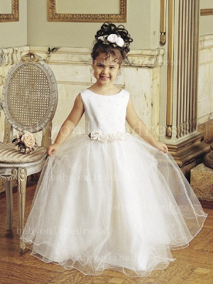 Designer Flowers Little Girls Pageant Gowns Tulle Princess for Sale_1