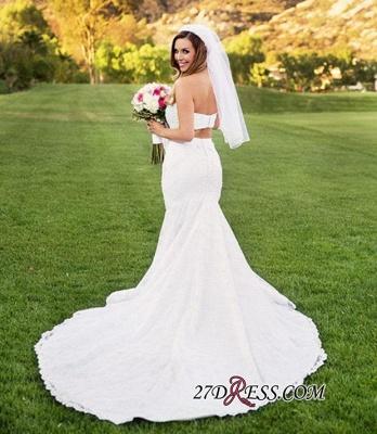 Two-Piece Beads Lace Sexy Mermaid Sweetheart Wedding Dresses UK_2