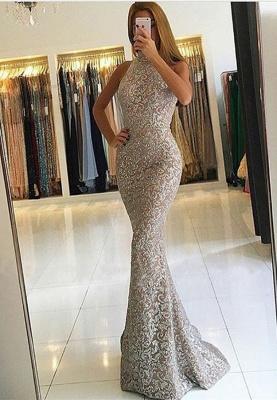 High-Neck Sleeveless Evening Dress UK | Sequins Mermaid Prom Dress UK_1