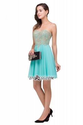 Appliques Sleeveless Sexy Chiffon Short Homecoming Dress UK_2
