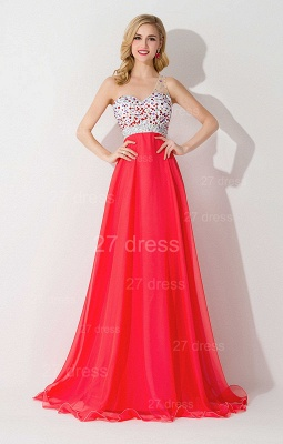 Elegant One Shoulder Crystal Prom Dress UK Floor Length_2
