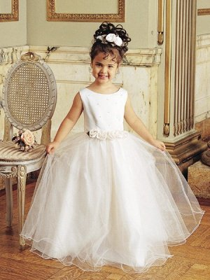 Designer Flowers Little Girls Pageant Gowns Tulle Princess for Sale_3