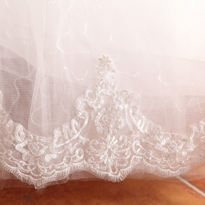 Elegant Long Sleeve Sequins Lace Wedding Dresses UK Ball Gown Tulle_4