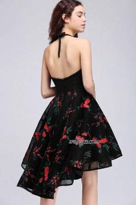 Backless Modern Flowers Sleeveless A-line Halter Homecoming Dress UK_3