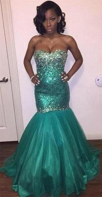 Sparkly Sweetheart Crystal Sequins Evening Dress UKes UK Mermaid Floor Length BK0_1