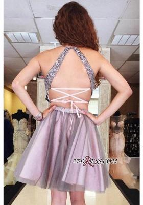 Lace Pieces Dress UKes UK Homecoming Elegant Lavender A-Line Tulle Halter Two Cocktail Dress UKes UK_3