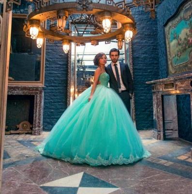 Elegant Sleeveless Tulle Ball Gown Wedding Dress Lace_2
