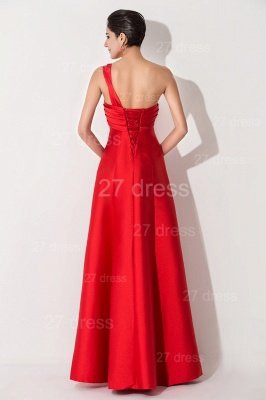 Newest A-line Red Sleeveless Evening Dress UK Floor-length Lace-up_4