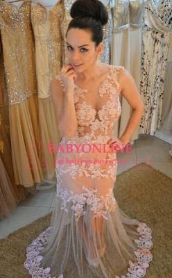 Sheer Womens Lace Evening Dress UK Sleeveless Mermaid Luxury_1