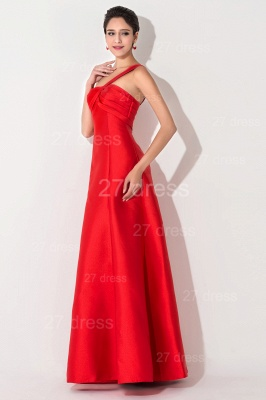 Newest A-line Red Sleeveless Evening Dress UK Floor-length Lace-up_3