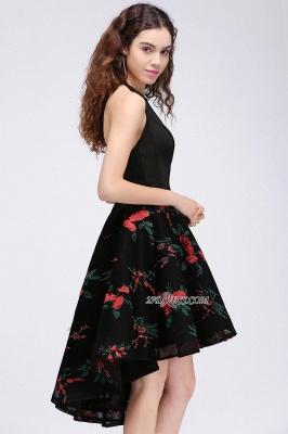 Backless Modern Flowers Sleeveless A-line Halter Homecoming Dress UK_2