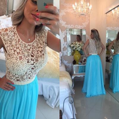 Luxury Red Pearls Lace Prom Dress UKes UK Long Chiffon BT0_4