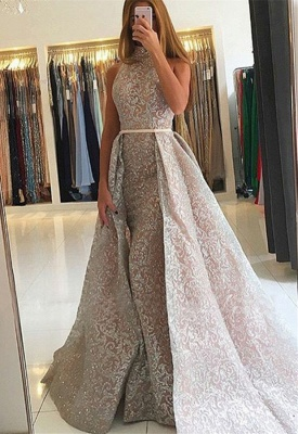 Luxury High-Neck Evening Dress UK   Sequins Party Dress UK On Sale_1