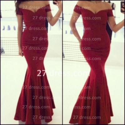 Off the Shoulder Red Prom Dress UKes UK_2