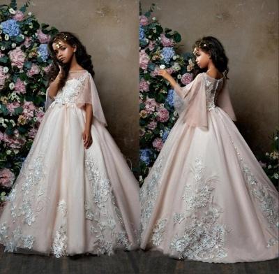 Lovely Princess Flower Girl Dress   2019 Zipper Girls Pageant Dress_5